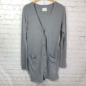 T.La Oversized Gray Long Cardigan Size Small